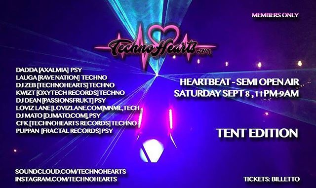 Dj ing at Technohearts sept 8 Awesome!! Cant wait!! https://www.facebook.com/events/1019500511550925/?ti=icl @technohearts @djzebofficial @loviz_lane