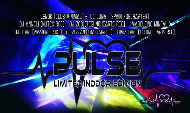 Pulse by TechnoHearts: Lenok, Dj Zeb , dj Anneli , Cc luna, Puppan, Dj Dean, Loviz Lane, Madeleine Minfalk https://tinyurl.com/pulse-oct26  @technohearts @technohearts_records @loviz_lane @djzebofficial @djpuppan @ccluna_dj